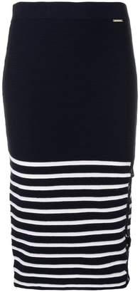 Liu Jo striped pencil skirt