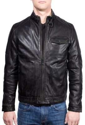 Ungaro Leather Cafe Racer Moto Jacket