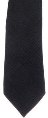 Brunello Cucinelli Plaid Wool Tie blue Plaid Wool Tie