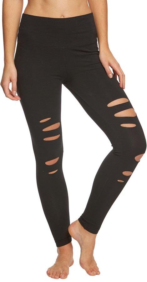 Hard Tail Flat Waist Laser Ankle Yoga Leggings 8165079