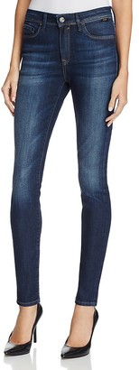 Mavi Alissa High Rise Skinny Jeans in Dark Brushed Indigo Gold $148 thestylecure.com