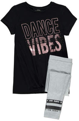 George Dance Vibes T-Shirt and Leggings Outfit