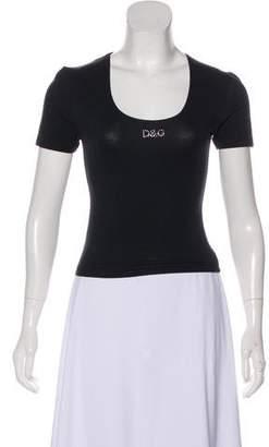Dolce & Gabbana Short Sleeve Scoop Neck Top