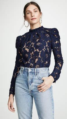 WAYF Emma Puff Sleeve Lace Top