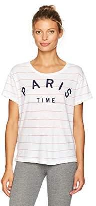 Sundry Women's Paris Time Stripe Tee