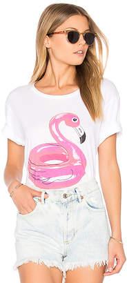 Lauren Moshi Evie Flamingo Floatie Tee in White $79 thestylecure.com