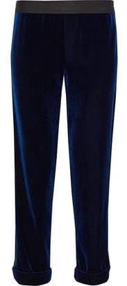 Bailey 44 Phantom Cropped Velvet Straight-Leg Pants