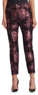Saks Fifth Avenue COLLECTION Brocade Cropped Trousers