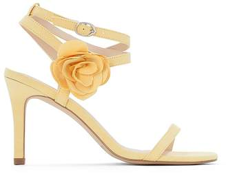 e4ec2aae2a1 at La Redoute · La Redoute Collections High-Heeled Sandals with Flower  Detail