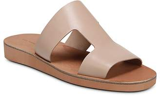 Via Spiga Women's Blanka Leather Slide Sandals