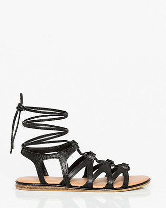 Le Château Leather-Like Ghillie Tie Gladiator Sandal
