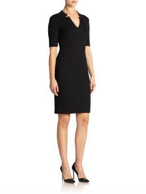 St. John Caviar Collection Milano Knit Dress $895 thestylecure.com