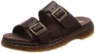 Dr. Martens Men's Nikolai Slide Sandal Dark Brown 6 Medium UK (7 US)