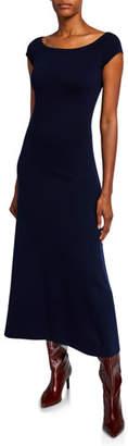 Gabriela Hearst Larrington Wool-Cashmere Short-Sleeve Midi Dress