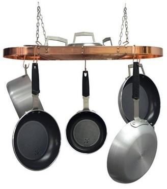 Range Kleen 24-Piece Copper Plated Oval Pot Rack