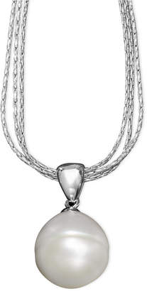Honora Style Cultured Freshwater Pearl Drop Pendant Necklace in Sterling Silver (12mm)