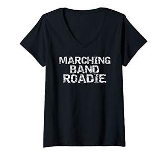 Womens Funny Matching Marching Band Gifts Fun Marching Band Roadie V-Neck T-Shirt