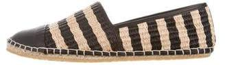 Loeffler Randall Leather-Accented Round-Toe Espadrilles