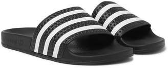 adidas Adilette Textured-Rubber Slides - Black