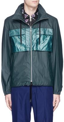 Laminated cotton gabardine jacket