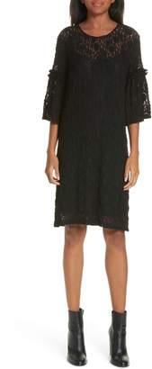 MM6 MAISON MARGIELA Bell Sleeve Stretch Lace Shift Dress