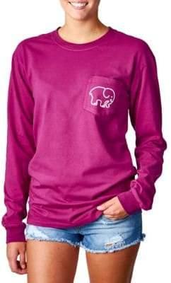 Ivory Ella Empire Pigment-Dyed Long-Sleeve T-Shirt