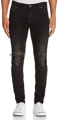 G-STAR RAW 5620 3D Zip Knee Super Slim Fit Jeans in Dark Aged $190 thestylecure.com