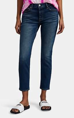 GRLFRND Women's Yasmin Mid-Rise Slim Crop Jeans - Blue