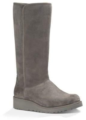 UGG Kara Sheepskin and Suede Mid-Calf Boots