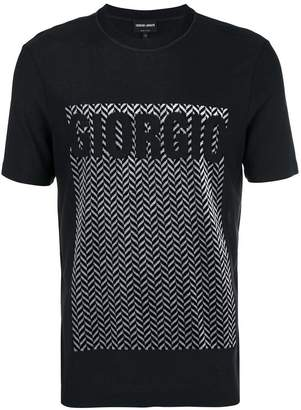 Giorgio Armani herringbone logo T-shirt