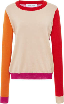 Prabal Gurung Color Block Crewneck Pullover