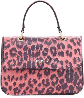 Furla Ottavia Small Leopard Top Handle Bag