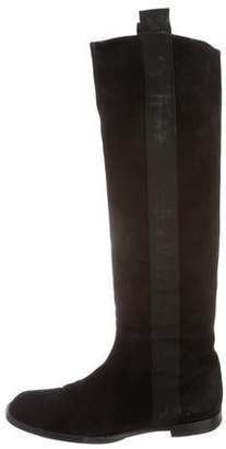 Robert Clergerie Square-Toe Over-The-Knee Boots