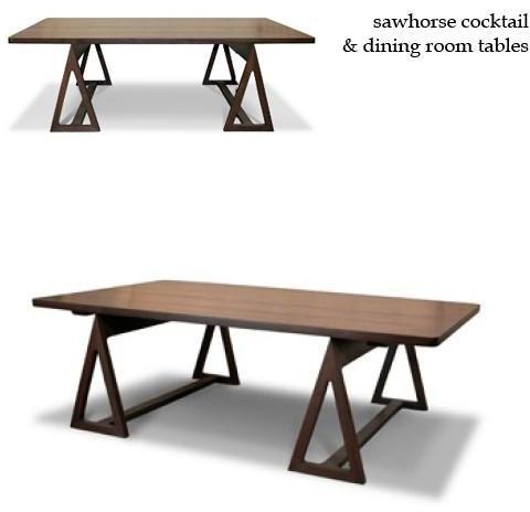 Jonathan Adler - sawhorse tables by jonathan adler