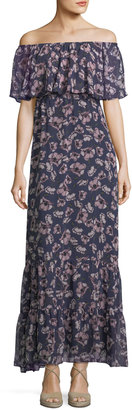 Donna Morgan Off-the-Shoulder Floral-Print Maxi Dress $99 thestylecure.com