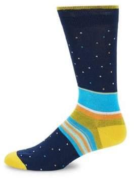 Bugatchi Multicolored Crew Socks