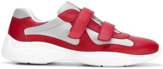 Prada logo touch strap sneakers