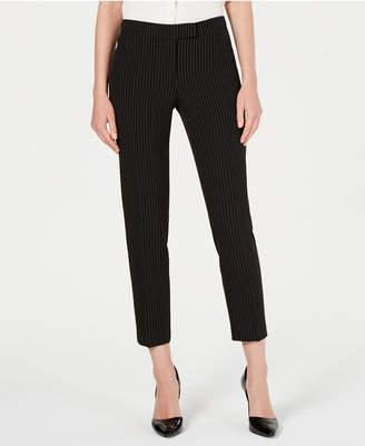 Anne Klein Pinstripe Straight-Leg Pants