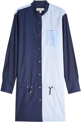 Public School Cotton Shirt Dress with Drawstring Waist