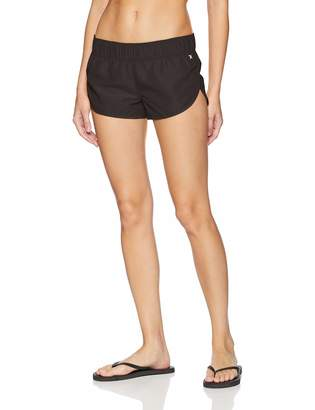 Hurley Women's Apparel Junior's Supersuede 2.5 Inch Beachrider Board Shorts, Black//White 4, S