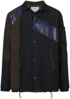 Kolor colour-block fitted jacket