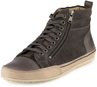 John Varvatos Kilay Suede/Leather High-Top Sneaker, Oxide $219 thestylecure.com