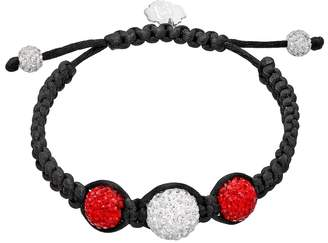 Kohl's North Carolina State Wolfpack Crystal Ball & Sterling Silver Team Logo Slipknot Bracelet