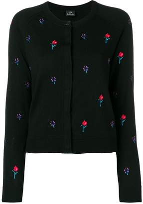 Paul Smith embroidered floral cardigan