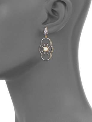 Azaara Crystal & Sterling Silver Drop Earrings