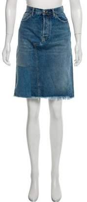 Golden Goose Jennifer Knee-Length Denim Skirt w/ Tags