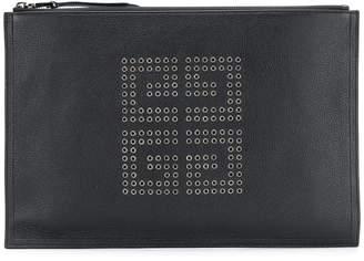 Givenchy embellished logo clutch bag