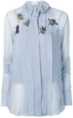 Carven embroidered insect blouse