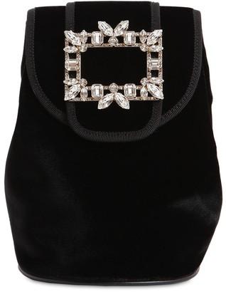 Roger Vivier Broche Mini Velvet Backpack