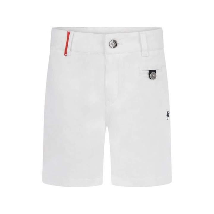 FerrariBoys White Cotton Shorts